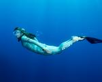 Tomoka Artur Kade Miho Tsuruoka Tavolara Sardinia SEABOB Freediving Underwater Artur kade Participate ©® 2016